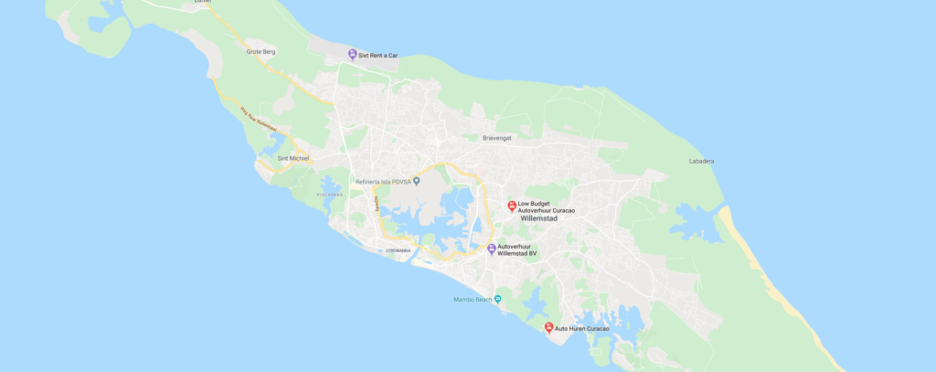 Map Curaçao